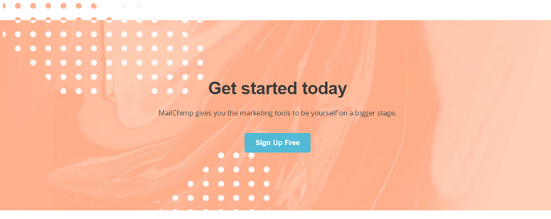 It's pretty hard to miss mailchimp's CTAs