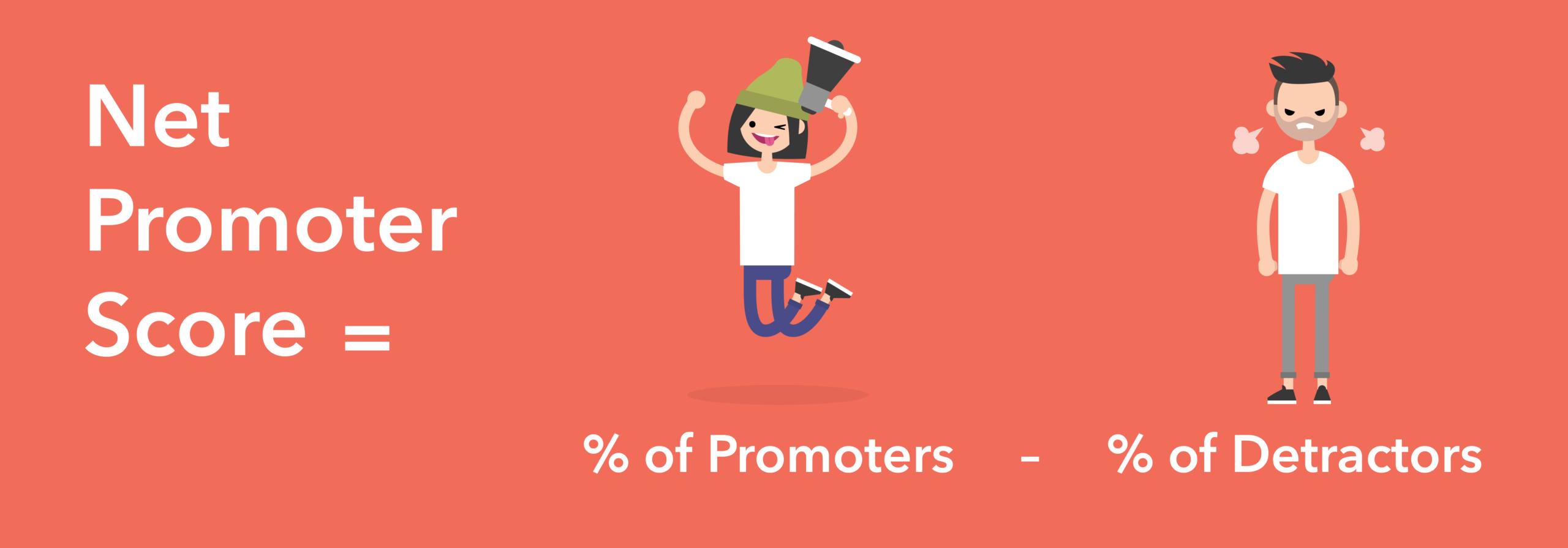 Net Promoter Score = % of Promoters - % of Detractors