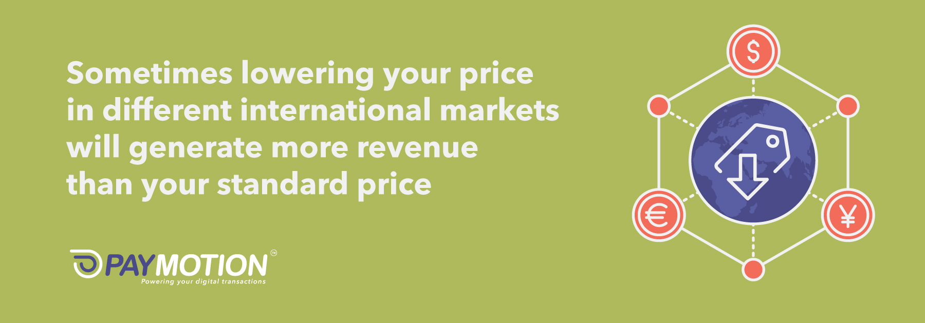 Global Growth. Lowering prices in international markets.